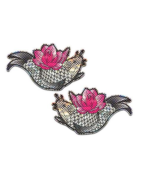Pastease  Adhesive Nipple Pasties: Koi Fish and Lotus Flower