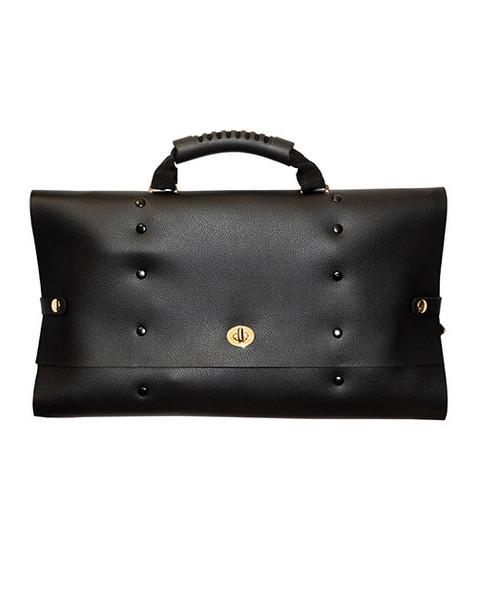 Traveler Fantasy Briefcase Restraint & Bondage Play Kit - Black Leatherette
