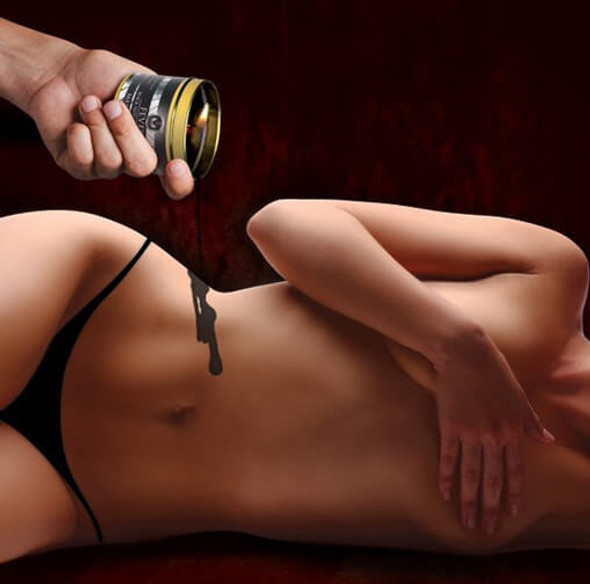 Hot wax for BDSM temperature play
