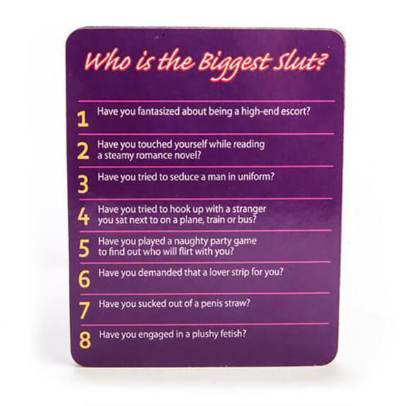 """""""Who Is The Biggest Slut?"""" Drinking Game"""
