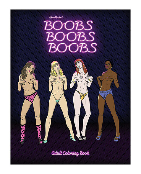 """""""Boobs Boobs Boobs"""" Coloring Book for Adults"""