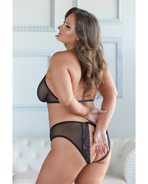 Queen Elise Halter Neck Top & Open Back Panty