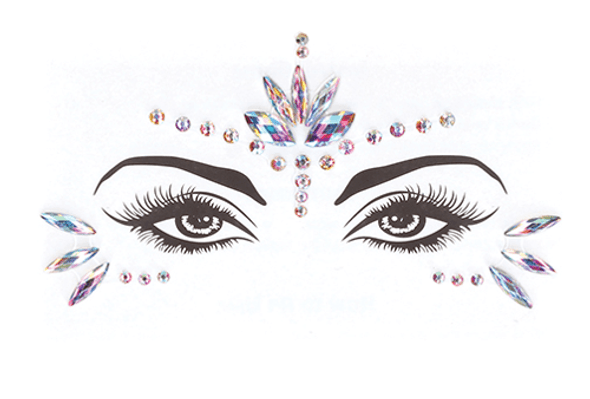 Body Bliss Eye Bling Opal Crystals Adhesive Stickers