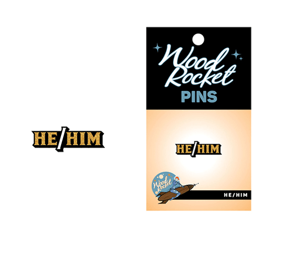 He/him pronoun lapel pin - Gender Expression Products
