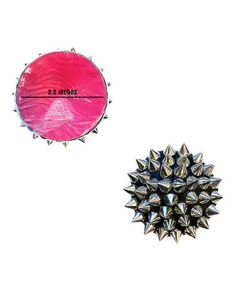Nipztix Black Pleather & Silver Spikes Reusable Pasties