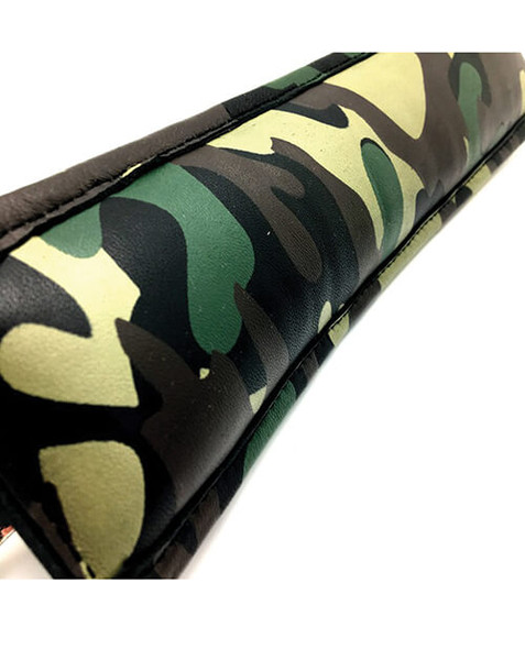 camouflage print leather restraints