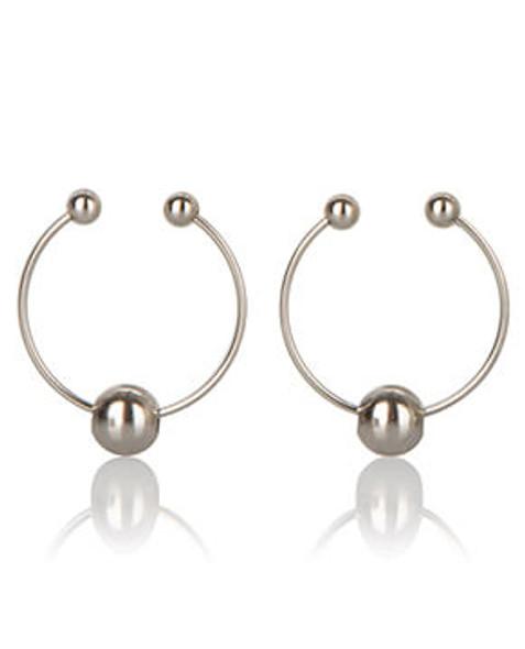 Silver Non-Piercing Nipple Rings