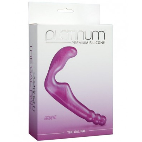 "Platinum Silicone ""Gal Pal"" Double Dildo - Purple"