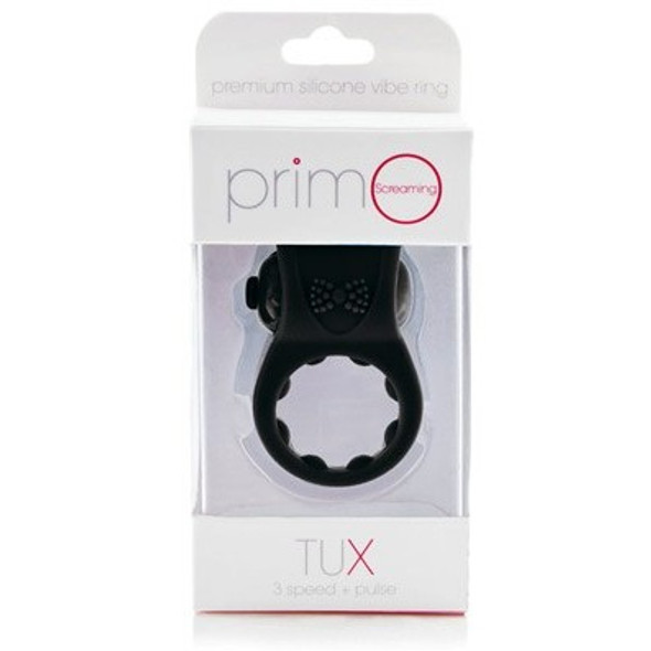 Screaming O Primo Silicone Tux Ring - Vibrating Cock Rings for Couple's Pleasure