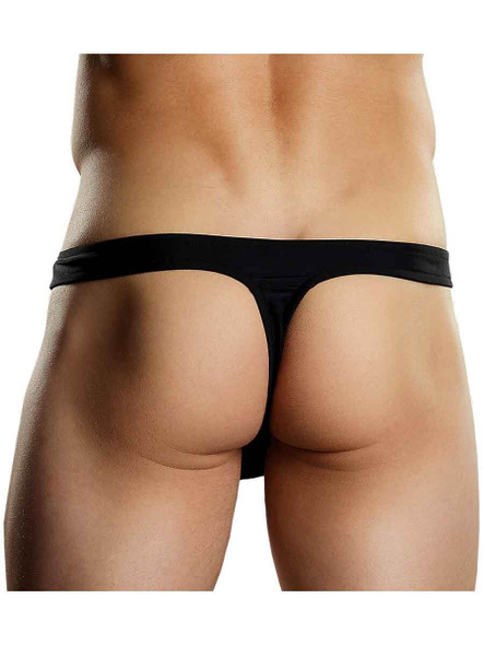 Black Thong for Men with Zipper front