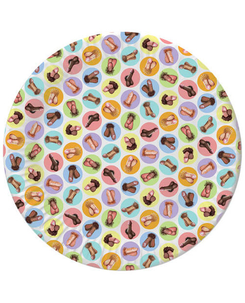 Colorful Penis Plates - Pack of 8