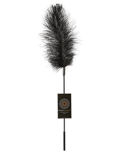 Black Ostrich Feather Fantasy Tickler