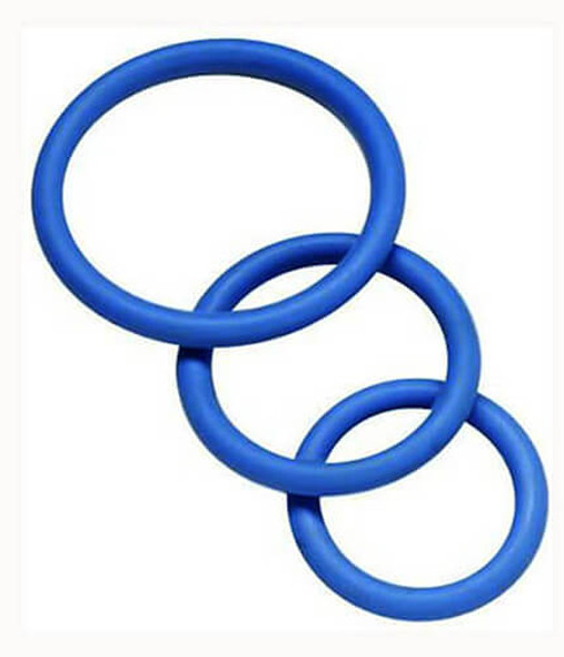 Spartacus Latex-Free Nitrile Cock Rings - Blue