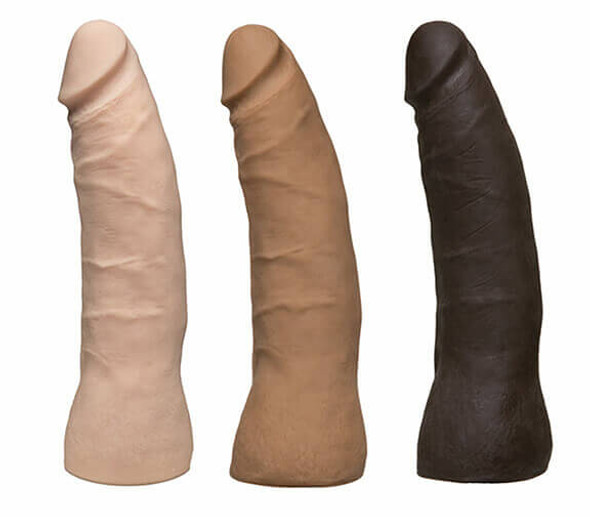 "Vac-U-Lock UR3 7"" Thin Dongs - White, Brown or Black"