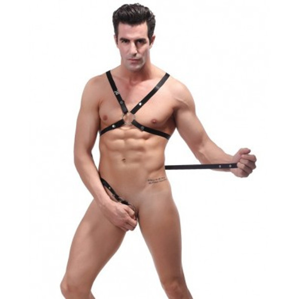 Black Male Power Rip-Off Harness