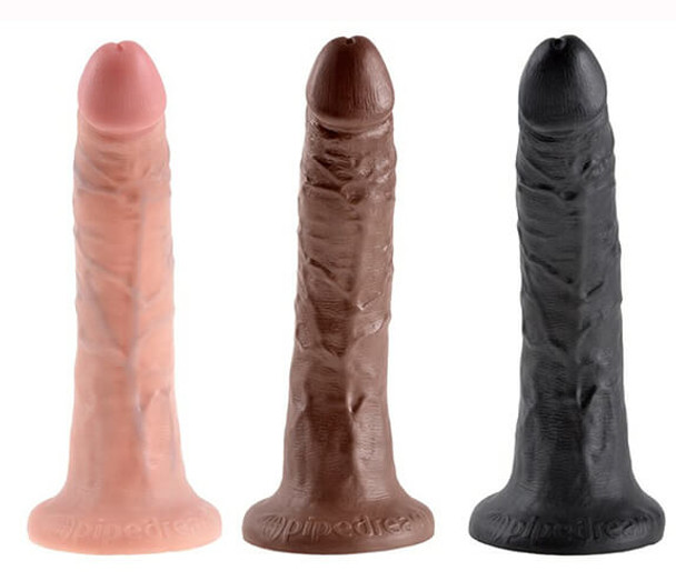 King Cock Realistic Dongs - White, Brown and Black
