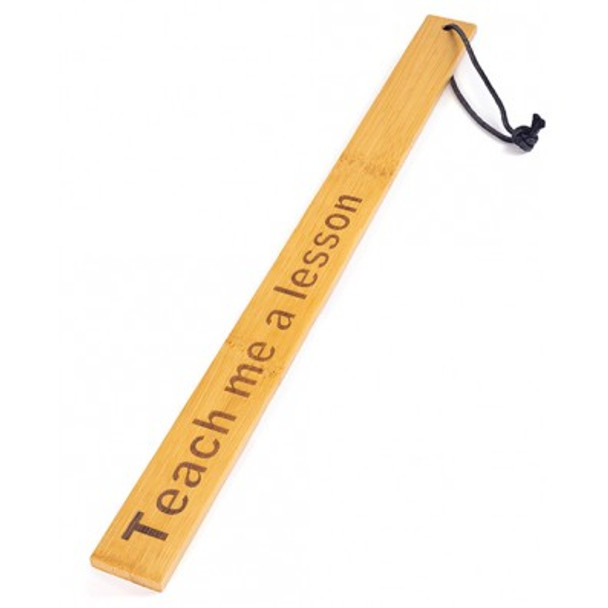 """Spartacus Bamboo Paddle - """"Teach Me a Lesson"""""""