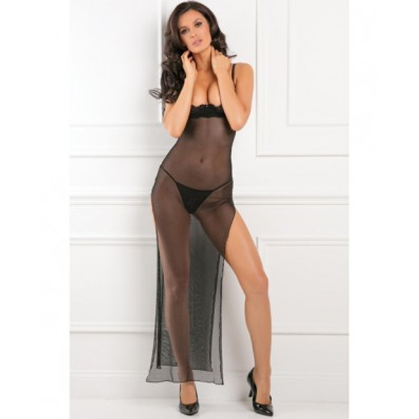 "Rene Rofe ""All Out There"" Open Cup Dress - Black"