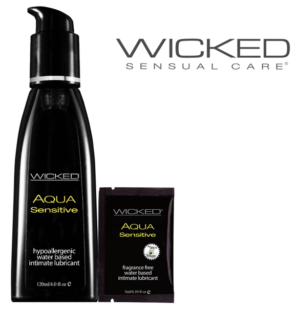 Wicked Sensual Care Hypoallergenic Aqua Sensitive Water-Based Lubricant - Fragrance-Free