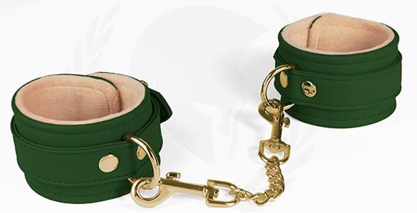 Spartacus Plush-Lined Wrist Cuffs - Forest Green