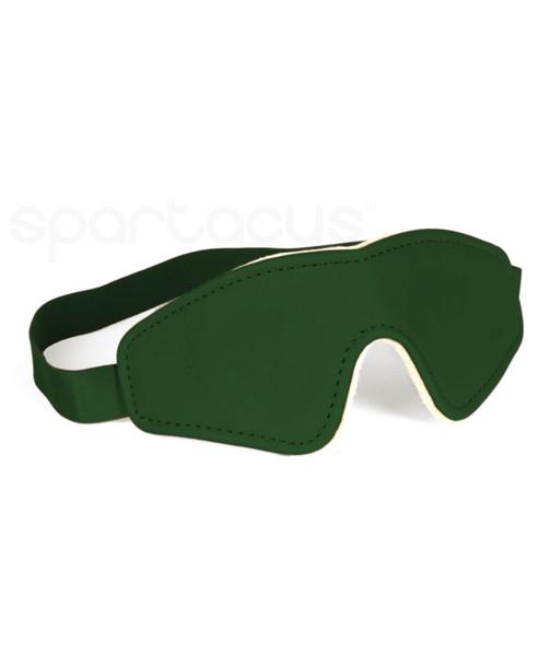 Spartacus Plush-Lined Vegan Blindfold - Green