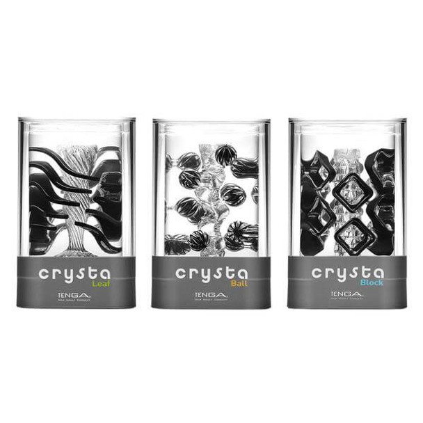 Tenga Crysta Collection for Men - Leaf, Block and Ball