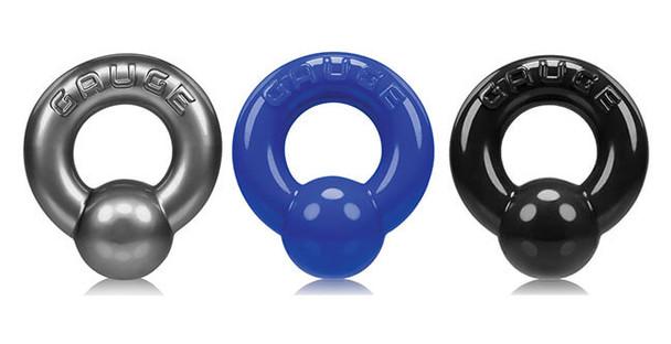 Oxballs Gauge Cockring - Steel, Blue or Black