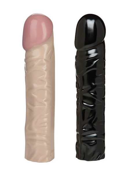 "Doc Johnson Classic Realistic 8"" Dildo in Black or White"