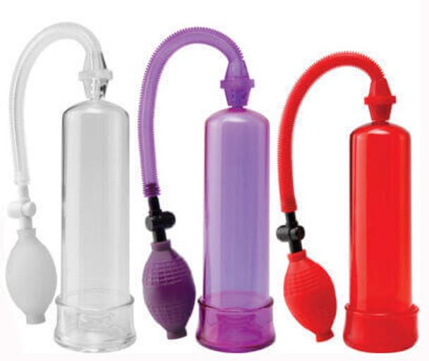 Pump Worx Beginner's Penis Pump - Clear, Purple or Red