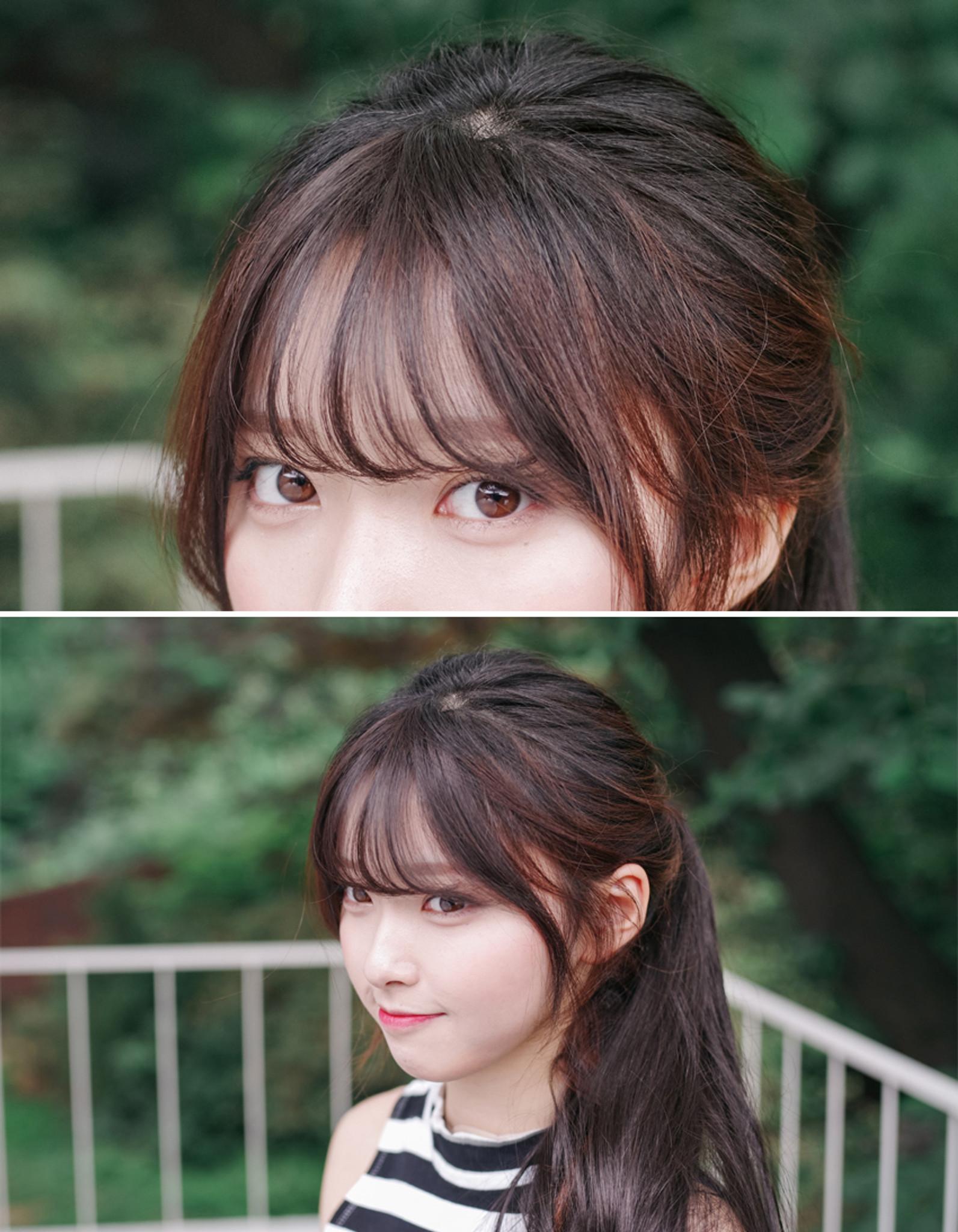 Korean bangs thin version non shiny - GIRLHAIRDO.COM ...