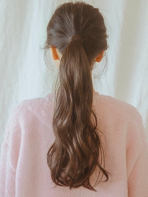 P1362 beautiful soft wave ponytail drawstrings (many Colours)