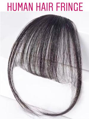 100% PREMIUM HUMAN HAIR AIRY BANGS NATURAL COLOUR