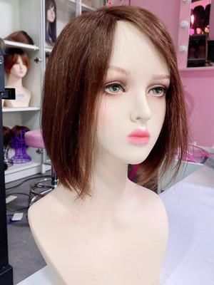 Brown premium human hair scalp hairline
