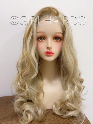 Sexy curly multi blonde lace front wig
