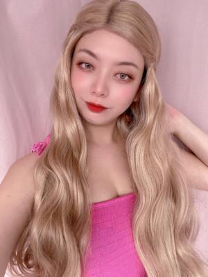 Long princess blonde lace wig