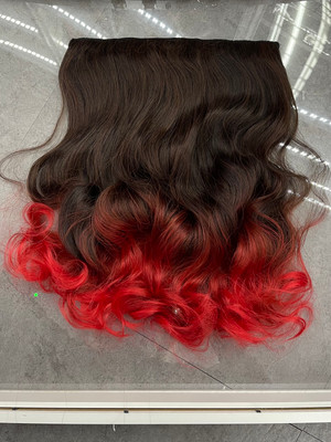 Hair extensions reddish