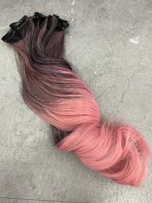 Brown pastel hair extensions x 7 PCS