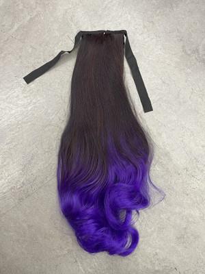 Ombré ponytail midnight purple