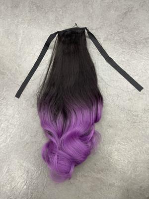 Ponytail ombré pastel purple
