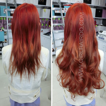 H005/35 Orange Brown Hair Extensions