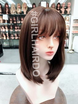 G61196 shoulder length natural skin wig