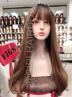 SW217L HONEY GIRLHAIRDO HONEY BROWN SKIN WIG