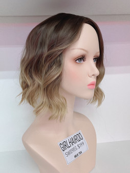 GIRLHAIRDO SW095S MILK TEA BLONDE BEACH WAVE BOB