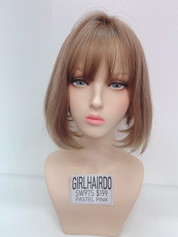 GIRL HAIRDO SW97S PASTEL PINK SHORT BOB