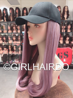 CAP + PASTEL PINK HAIR