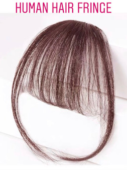 100% PREMIUM HUMAN HAIR AIRY FRINGE CHOCO BROWN