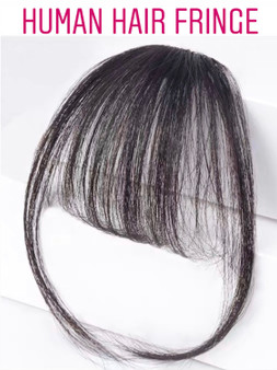 100% PREMIUM HUMAN HAIR AIRY BANGS NATURAL COLOUR