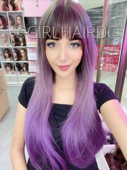 13L candy purple wig