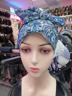 Wrap over head cover pure organic cotton
