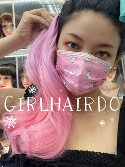 Dual Pink hair extension
